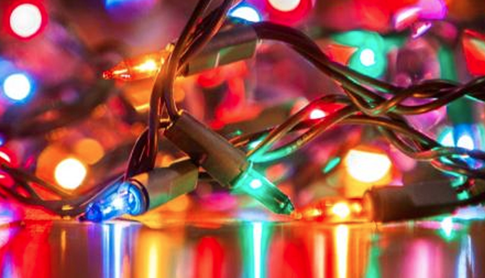 Florescent Christmas lights